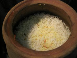 Layer of rice