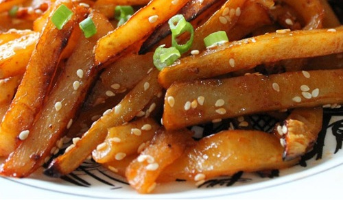 Honey chilli potato - cover