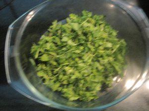 Chopped coriander