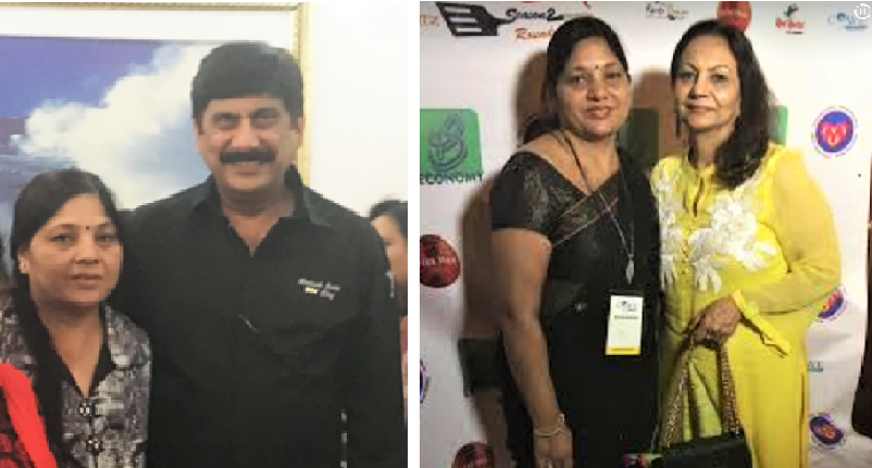 Achla Jindle with chef Rakesh Sethi and Neeta Mehta